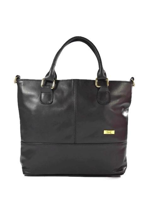 Klasyczna damska skórzana torebka