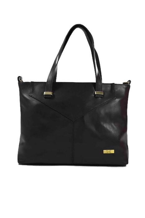 Czarna torebka klasyczna ze skóry