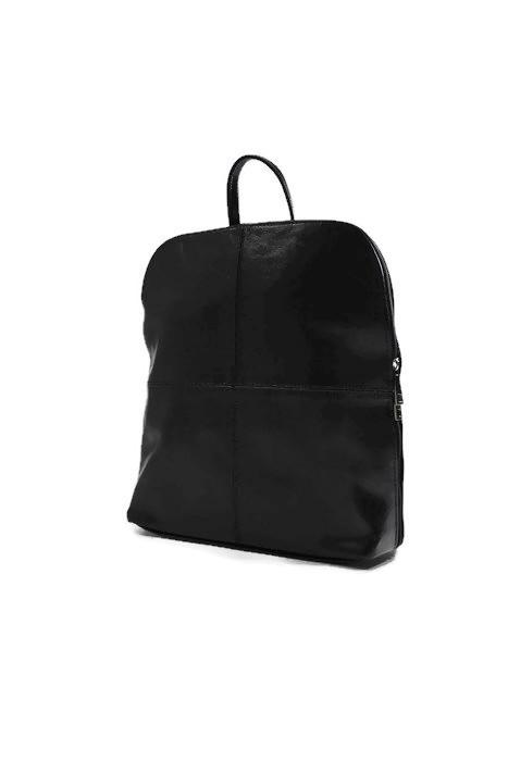 Skórzany klasyczny czarny plecak