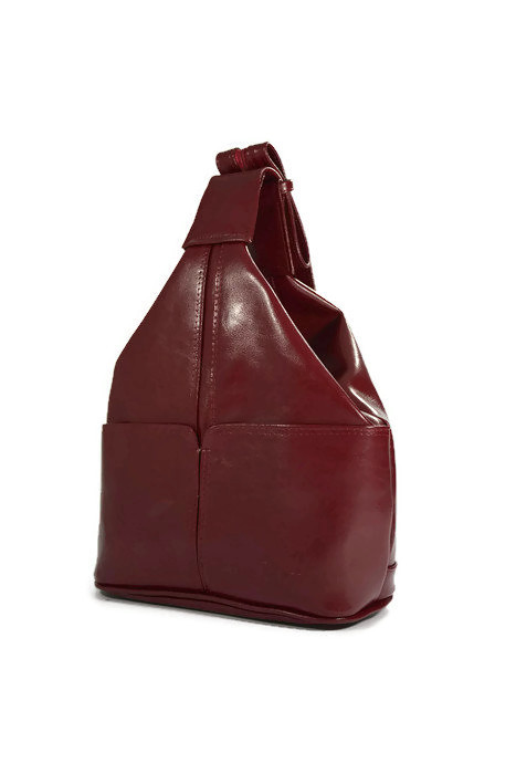 Skórzany bordowy plecak DAN-A