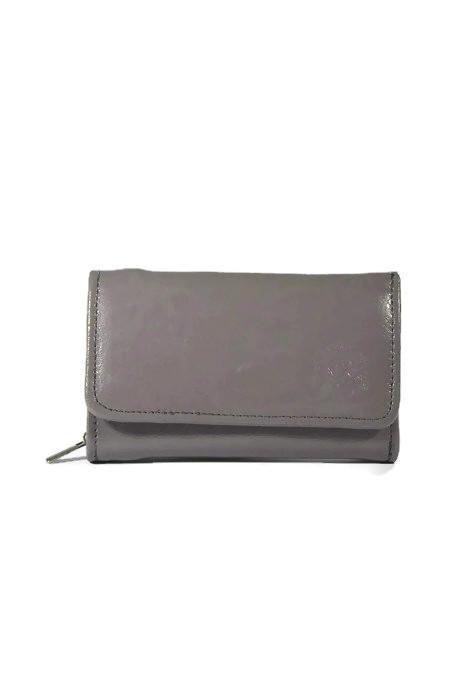 Szary damski skórzany portfel