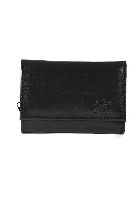 Czarny klasyczny damski portfel