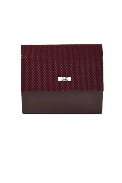 Bordowa torebka kopertówka