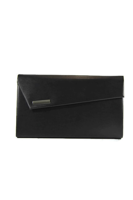 Damska czarna kopertówka