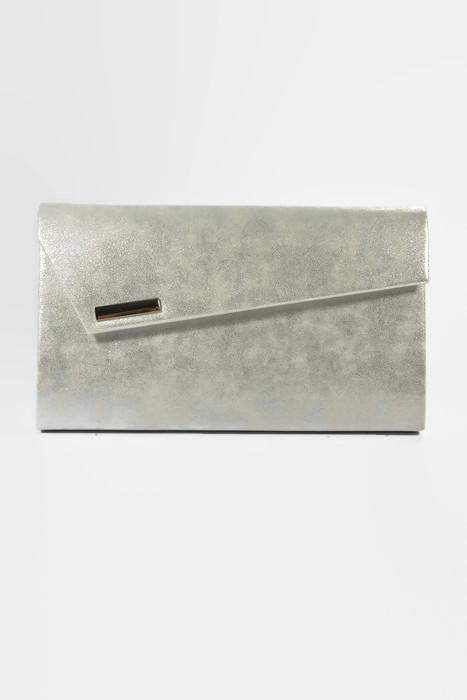 Klasyczna srebrna kopertówka