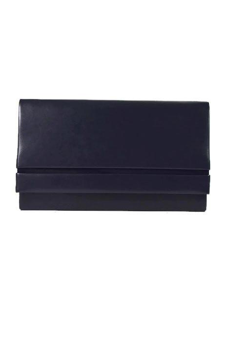Granatowa klasyczna kopertówka