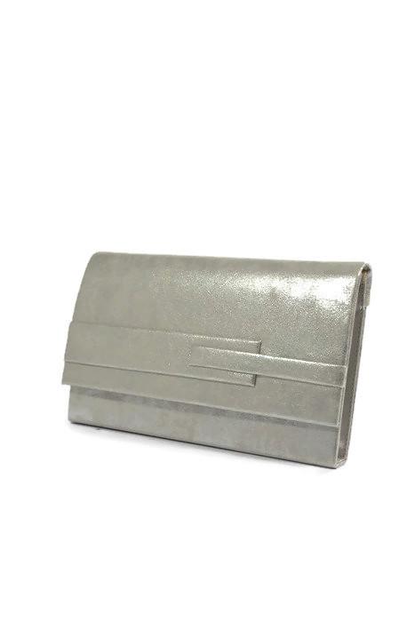 Błyszcząca srebrna kopertówka
