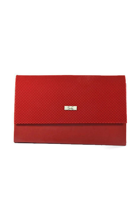 Damska kopertówka czerwona SHE