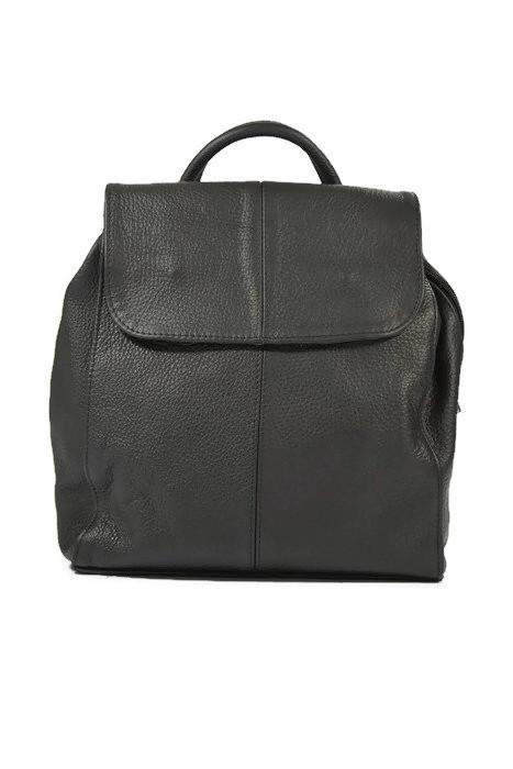 Skórzany czarny klasyczny plecak