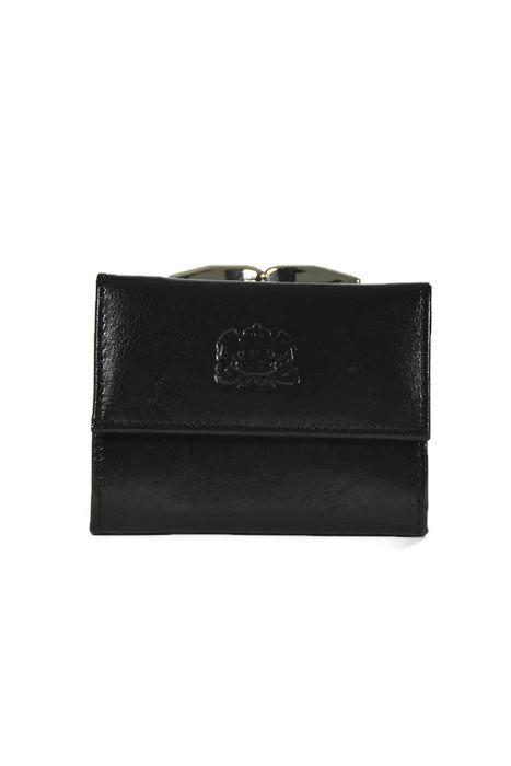 Czarny skórzany portfel DAN-A