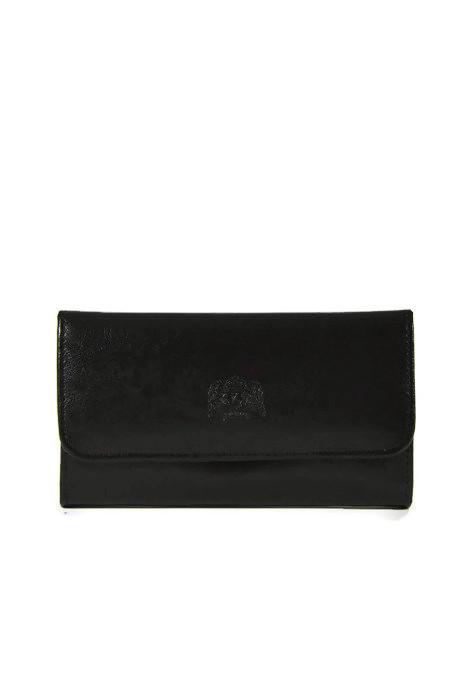Czarny portfel ze skóry DAN-A