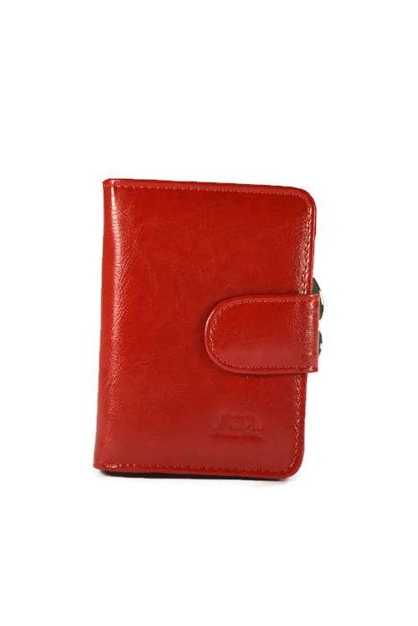 Skórzany czerwony portfel DAN-A