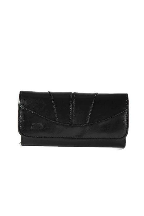 Skórzany czarny portfel DAN-A