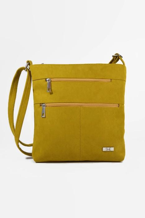 Żółta damska torebka listonoszka