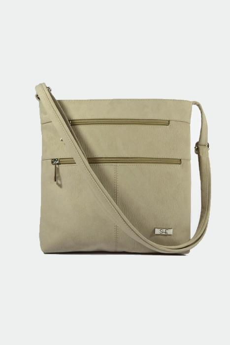 Beżowa torebka listonoszka dla kobiet