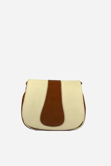Brązowa torebka listonoszka ze skóry