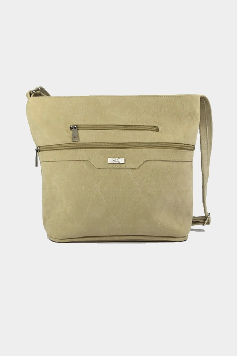 Klasyczna torebka worek beżowy