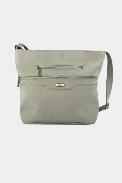 Klasyczna torebka worek szara