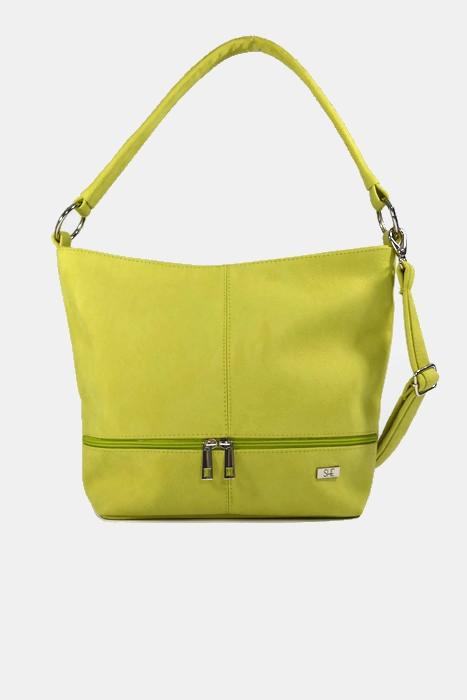 Damska torebka worek limonkowa