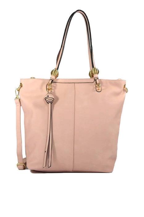 Różowa torebka shopper ekoskóra