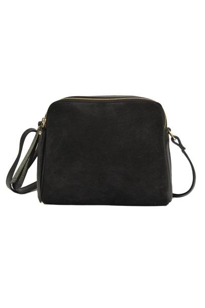 Czarna torebka listonoszka dla kobiet