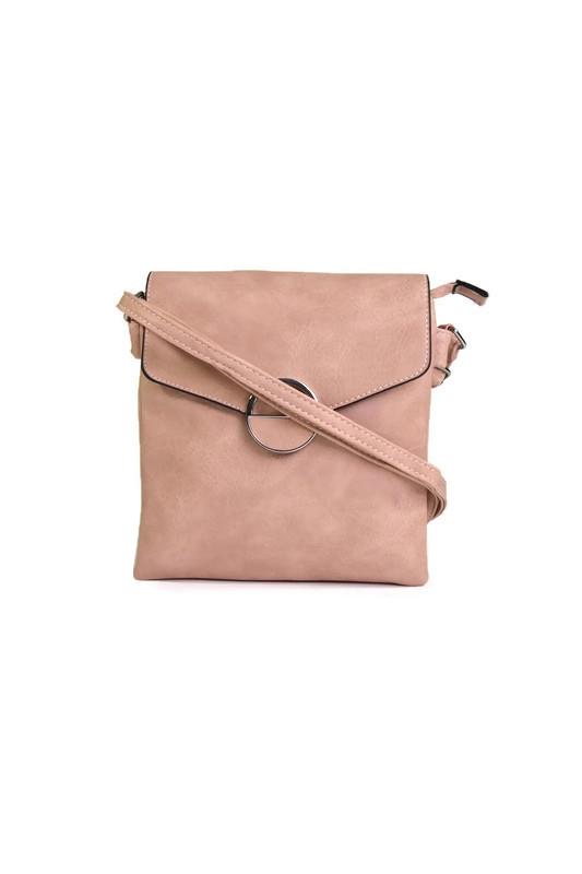Różowa torebka listonoszka skóra eko