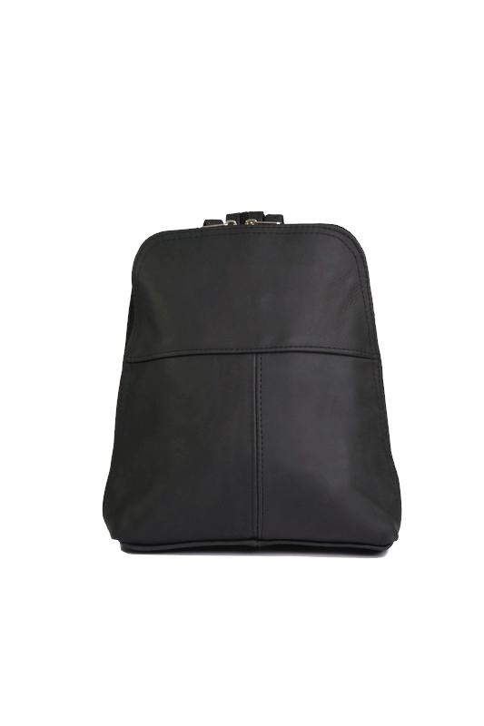 Czarny plecak ze skóry DAN-A