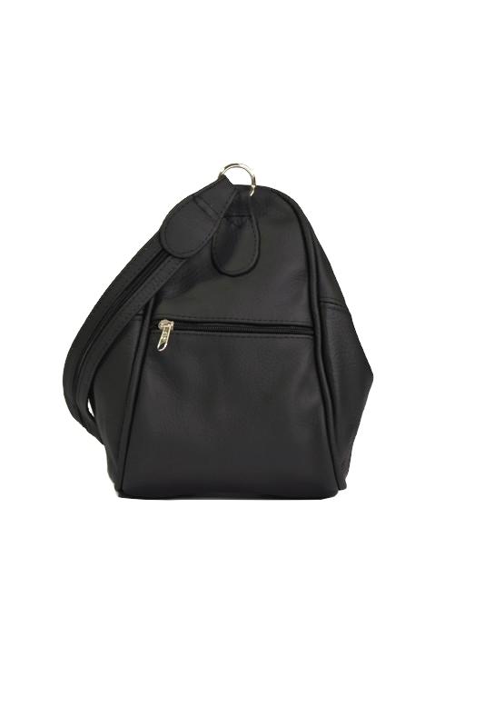 Czarny klasyczny plecak ze skóry