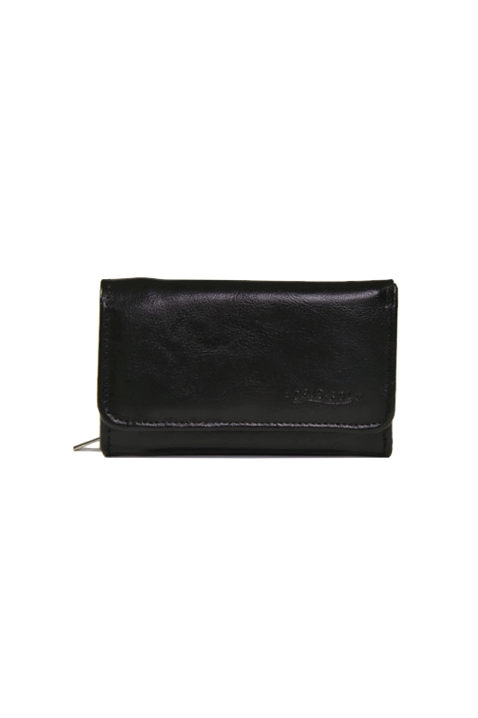Czarny damski skórzany portfel DAN-A