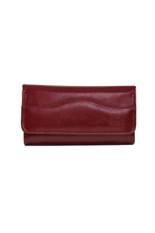 Bordowy damski skórzany portfel DAN-A