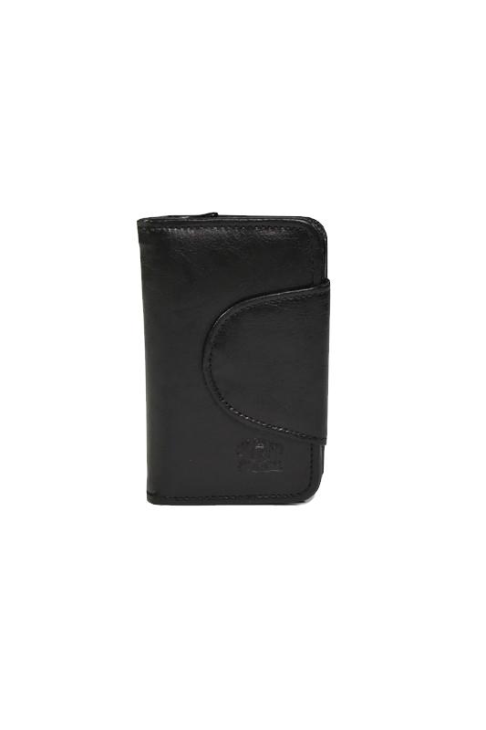 Czarny skórzany damski portfel DAN-A