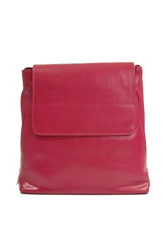 Klasyczna skórzana torebka różowa fuksja