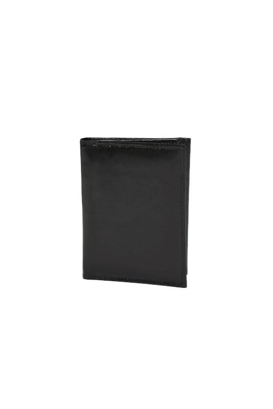 Skórzany cienki portfel czarny RFID