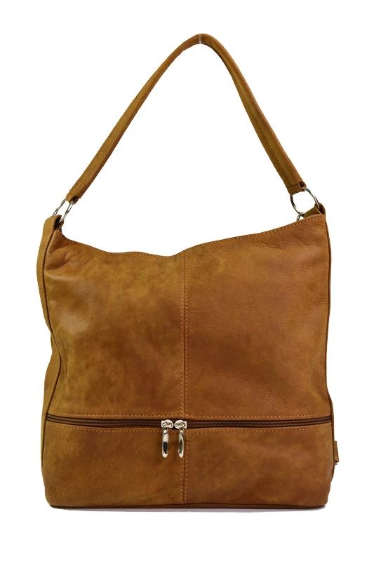 Skórzany worek dla kobiet brązowy