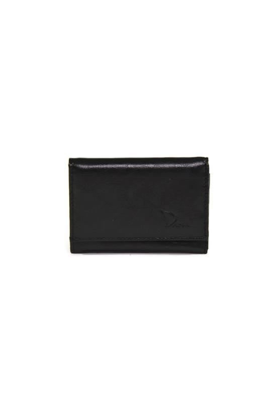 Czarny męski skórzany portfel DAN-A