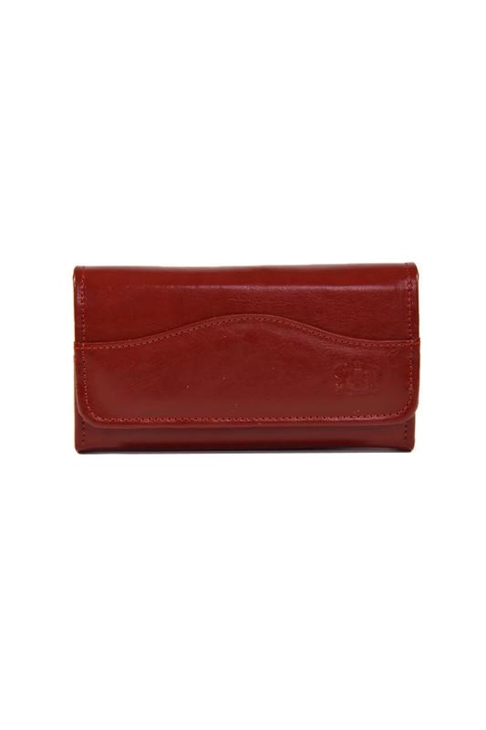 Czerwony damski skórzany portfel DAN-A