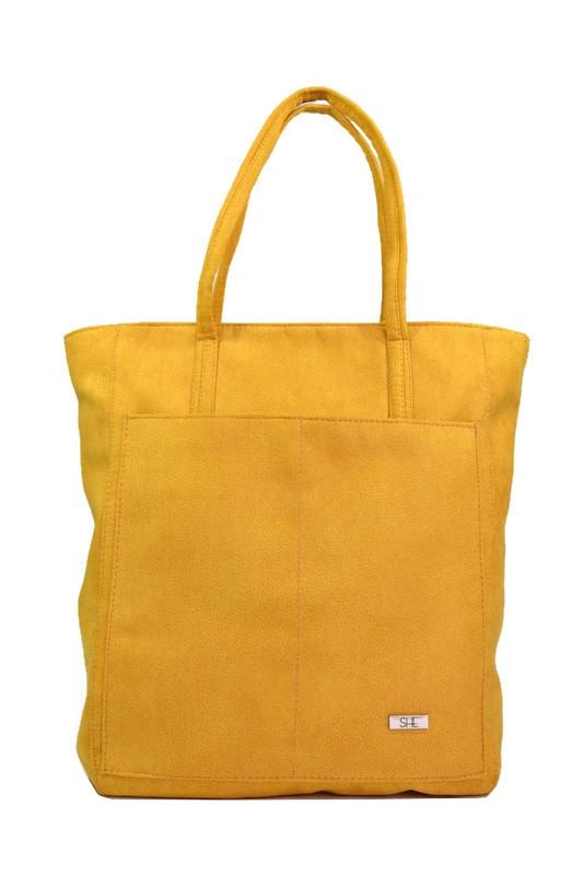 Torebka shopper żółta ekoskóra