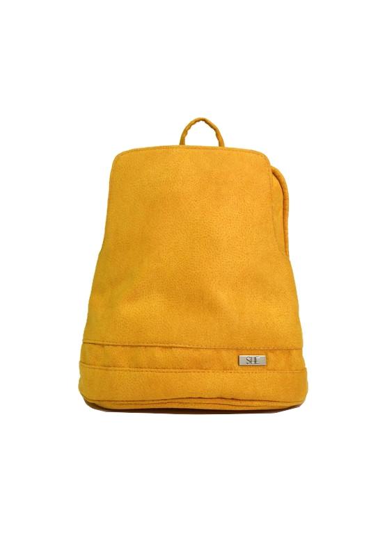 Klasyczny żółty plecak ekoskóra