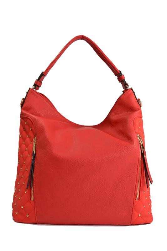 Czerwona klasyczna torebka shopper