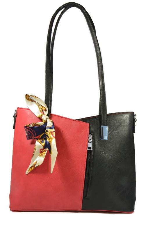 Klasyczna torebka czerwono-czarna