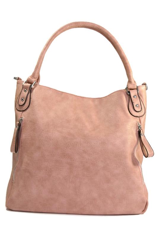 Różowa torebka shopperka z ekoskóry