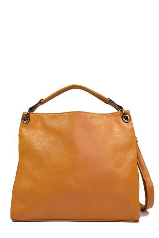 Żółta włoska torebka shopperka