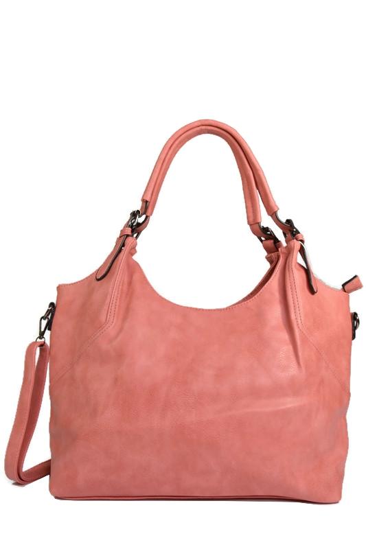 Różowa klasyczna torebka z ekoskóry
