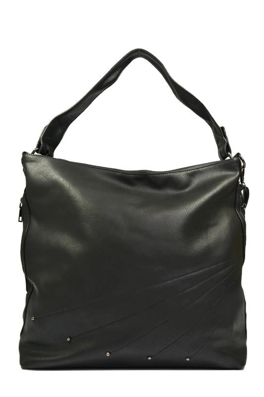 Czarna torebka z dżetami XL