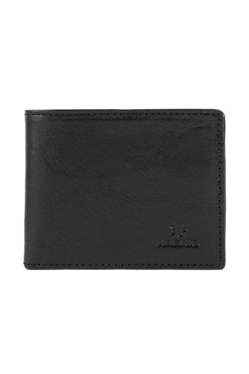 Czarny skórzany klasyczny portfel Krenig