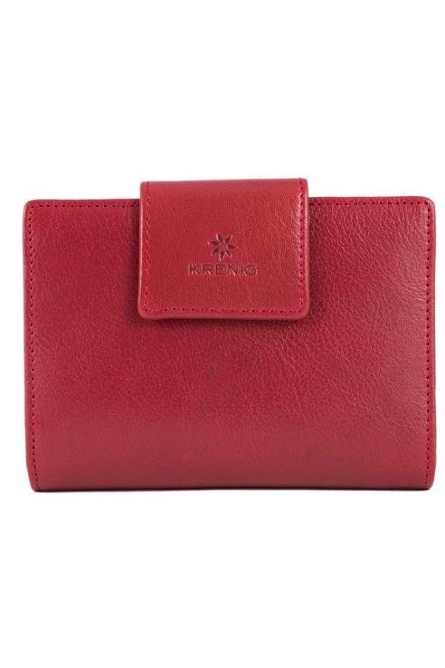 Skórzany damski czerwony portfel Krenig