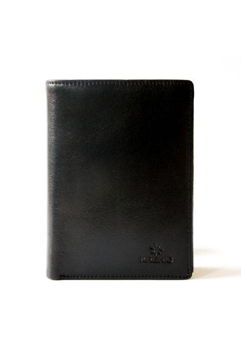 Czarny skórzany portfel męski Krenig
