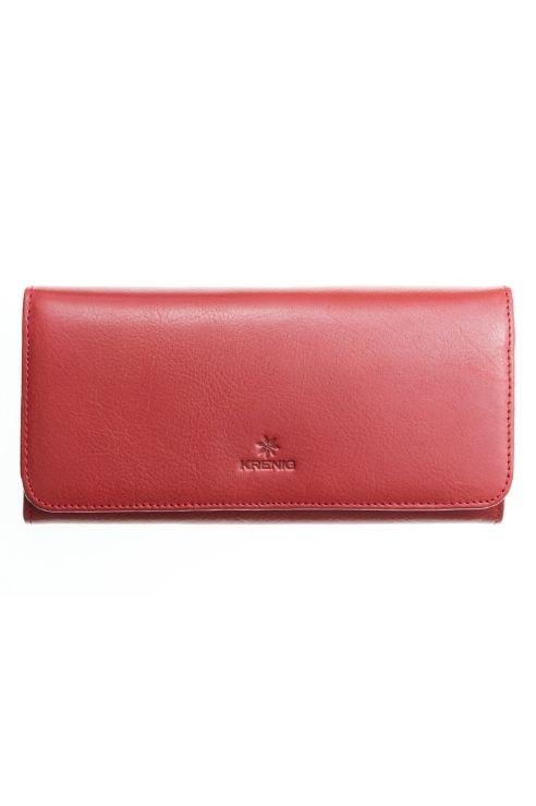 Skórzany czerwony damski portfel Krenig