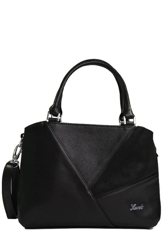 Czarna torebka kuferek z ekoskóry