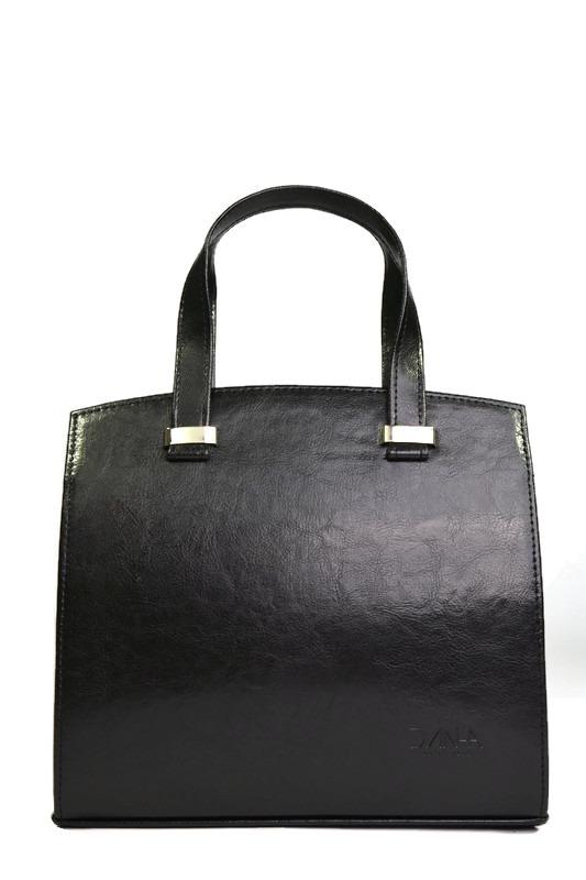 Czarny skórzany elegancki kuferek